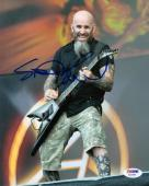 SCOTT IAN SIGNED AUTOGRAPHED 8x10 PHOTO ANTHRAX VERY RARE PSA/DNA
