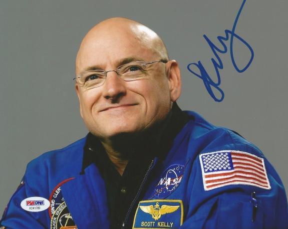 Scott Kelly Astronaut NASA Captain Signed Autograph 8x10 Photo PSA/DNA COA (C)