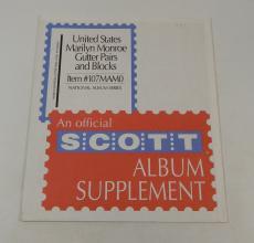 Scott US Marilyn Monroe Gutter Pairs / Blocks Item #107MAM0 National Stamp Pages