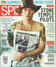 SCOTT WEILAND Stone Temple Pilots STP Signed Autographed SPIN Magazine PSA/DNA