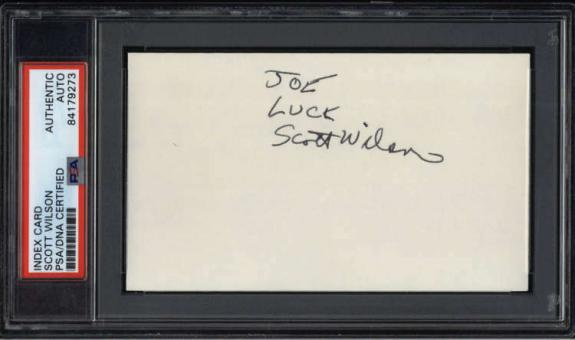 "Scott Wilson D.2018 Actor The Walking Dead Signed 3"" x 5"" Index Card  PSA/DNA"