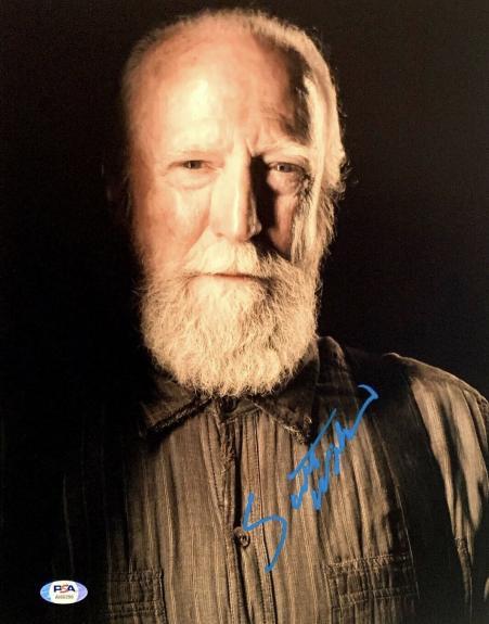 "Scott Wilson Signed 16x20 Photo "" The Walking Dead * PSA AI80398"