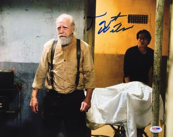 Scott Wilson Signed 'The Walking Dead' 11x14 Photo PSA AA47618