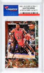Scottie Pippen Autographed Chicago Bulls 1992-93 Fleer Ultra #1 Card
