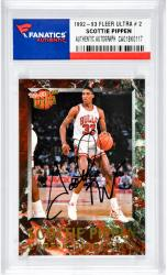Scottie Pippen Autographed Chicago Bulls 1992-93 Fleer Ultra #2 Card