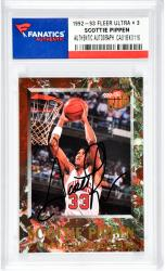 Scottie Pippen Autographed Chicago Bulls 1992-93 Fleer Ultra #3 Card