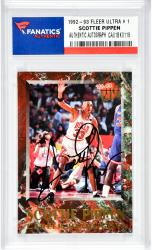 Scottie Pippen Autographed Chicago Bulls 1992-93 Fleer Ultra #9 Card