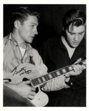 Scotty Moore Autographed Elvis Presley Guitar Photo UACC RD AFTAL