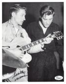 SCOTTY MOORE HAND SIGNED 8x10 PHOTO      AMAZING POSE WITH ELVIS PRESLEY     JSA