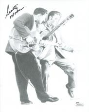 SCOTTY MOORE HAND SIGNED 8x10 PHOTO       AWESOME WITH ELVIS PRESLEY       JSA