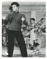 SCOTTY MOORE HAND SIGNED 8x10 PHOTO      CLASSIC POSE WITH ELVIS PRESLEY     JSA