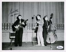 SCOTTY MOORE HAND SIGNED 8x10 PHOTO    GREAT POSE WITH ELVIS PRESLEY       JSA