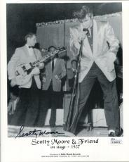 SCOTTY MOORE HAND SIGNED 8x10 PHOTO        ON STAGE 1957 ELVIS PRESLEY       JSA