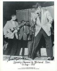 SCOTTY MOORE HAND SIGNED 8x10 PHOTO       WITH ELVIS PRESLEY FROM 1957      JSA