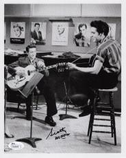 SCOTTY MOORE HAND SIGNED 8x10 PHOTO+JSA         IN THE STUDIO WITH ELVIS PRESLEY