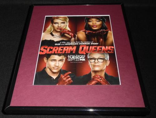 Scream Queens 2015 Fox Framed 11x14 ORIGINAL Advertisement Ariana Grande