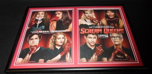 Scream Queens Framed 12x18 ORIGINAL 2015 Advertising Display Ariana Grande