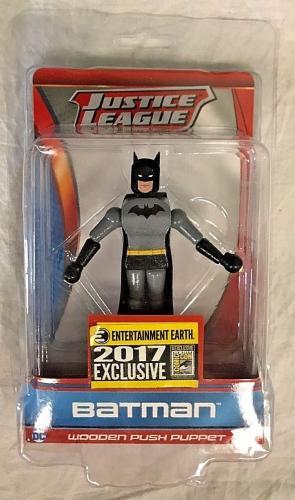 Sdcc 2017 Exclusive Dc Justice League Batman Wooden Push Puppet
