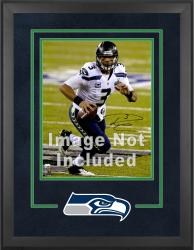 Seattle Seahawks Deluxe 16'' x 20'' Vertical Photograph Frame with Team Logo - Mounted Memories
