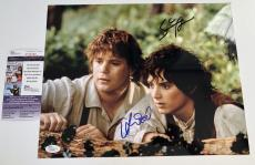 SEAN ASTIN & ELIJAH WOOD signed 11x14 Photo LORD OF THE RINGS JSA