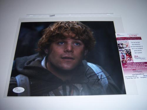 Sean Astin Lord Of The Rings,rudy Jsa/coa Signed 8x10 Photo