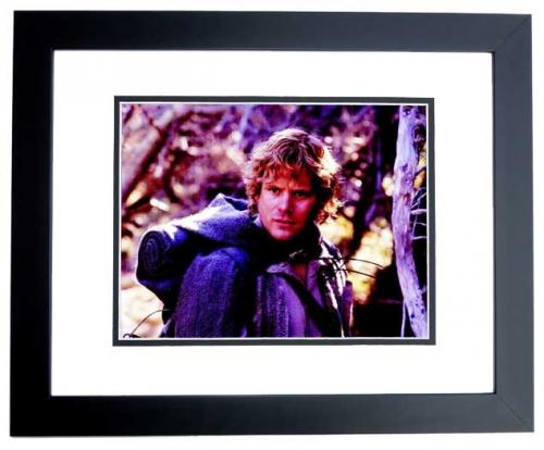 Sean Astin Signed - Autographed LORD OF THE RINGS 8x10 inch Photo BLACK CUSTOM FRAME - Guaranteed to pass PSA or JSA