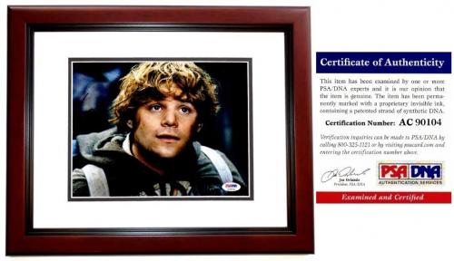 Sean Astin Signed - Autographed LORD OF THE RINGS 8x10 Photo MAHOGANY CUSTOM FRAME - PSA/DNA Certificate of Authenticity (COA)