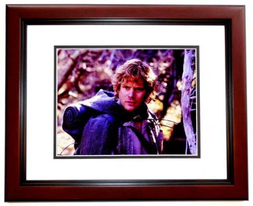 Sean Astin Signed - Autographed LORD OF THE RINGS 8x10 inch Photo MAHOGANY CUSTOM FRAME - Guaranteed to pass PSA or JSA