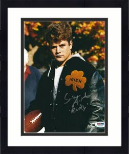 "Sean Astin Signed 'Rudy' 8x10 Photo ""Rudy"" *Ruettiger PSA 6A06625"