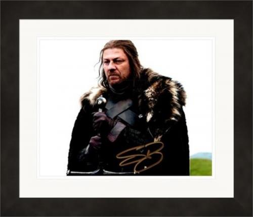 Sean Bean autographed 8x10 photo (Game of Thrones, Ned Stark) #SC2 Matted & Framed