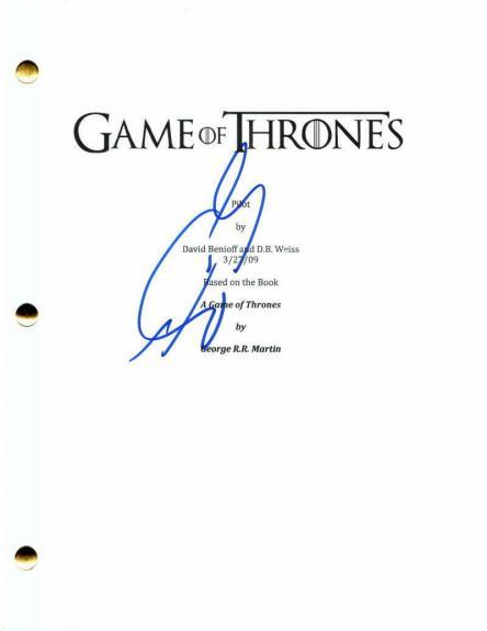 Sean Bean Signed Autograph Game Of Thrones Full Pilot Script - Ned Stark, Rare!