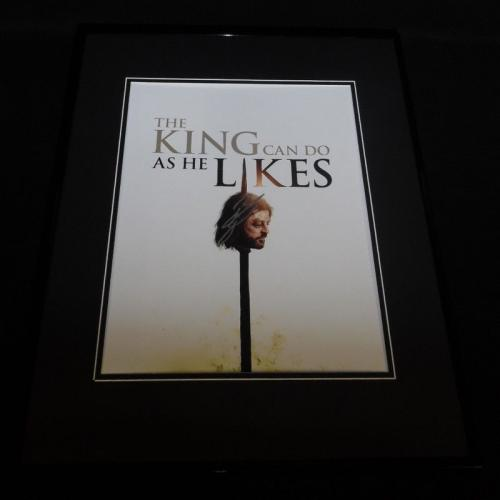 Sean Bean Signed Framed 16x20 Photo Poster Display AW Game of Thrones