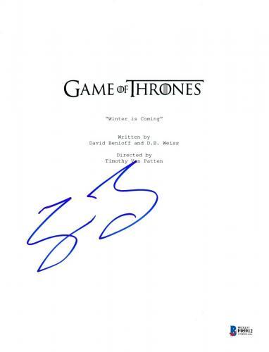 Sean Bean Signed Game Of Thrones Pilot Episode Script Beckett Bas Autograph Auto