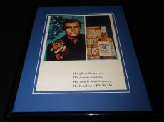 Sean Connery 1966 Jim Beam Bourbon 11x14 Framed ORIGINAL Vintage Advertisement