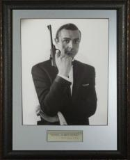 Sean Connery as James Bond unsigned 11X14 Vintage B&W Photo Leather Framed (movie/entertainment)