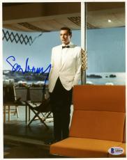 """Sean Connery Autographed 8"""" x 10"""" James Bond White Tux Photograph - BAS COA"""