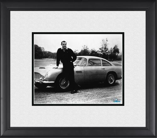 "Sean Connery Goldfinger Framed 8"" x 10"" James Bond Leaning on Car Photograph"