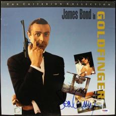 Sean Connery Goldfinger Signed Laserdisc Cover Psa/dna #j00715