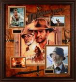 "Sean Connery & Harrison Ford Framed Autographed 40"" x 43"" x 3"" Indiana Jones Collage - PSA/DNA"