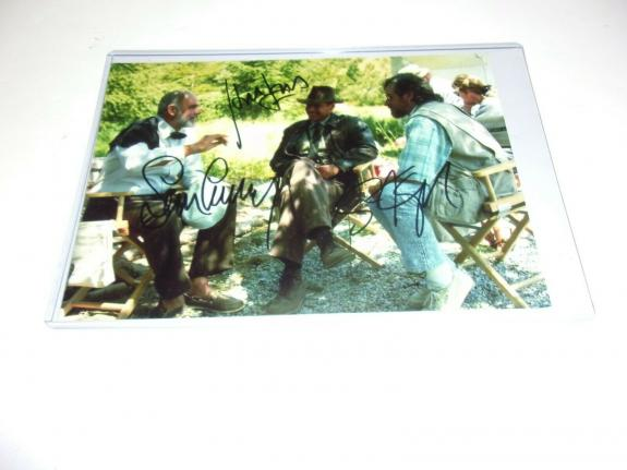 Sean Connery Harrison Ford Steven Spielberg Indiana Jones W/coa Signed Photo