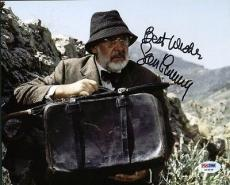 Sean Connery Indiana Jones Signed 8X10 Photo Auto Graded Perfect 10! PSA #X03558