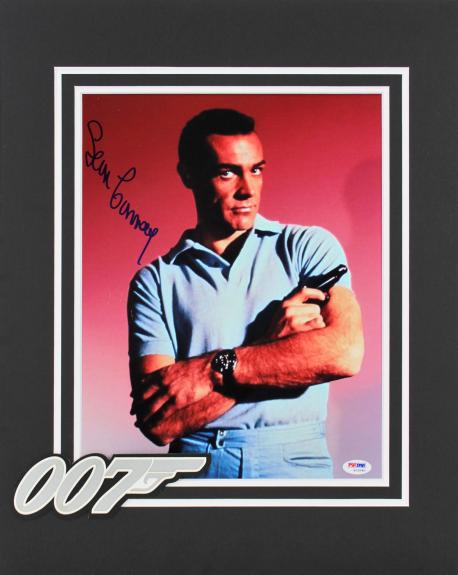 Sean Connery James Bond 007 Signed 11x14 Matted Photo PSA/DNA #S12090