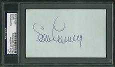 Sean Connery James Bond 007 Signed 3x5 Cut Signature PSA/DNA Slabbed