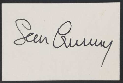 Sean Connery James Bond 007 Signed 3x5 Index Card JSA #Z73349