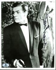 Sean Connery James Bond 007 Signed 8X10 B&W Photo BAS #A02031