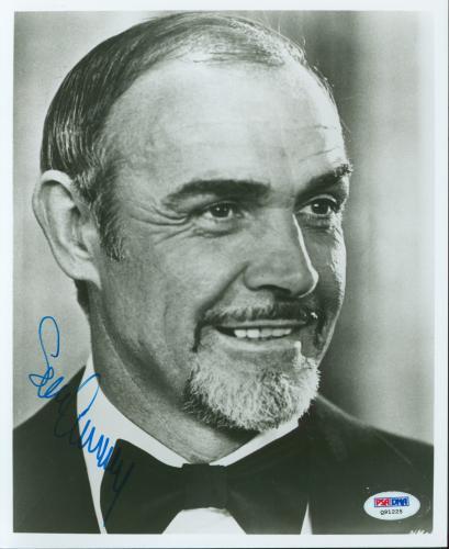 Sean Connery James Bond 007 Signed 8x10 Photo Autographed PSA #Q91225