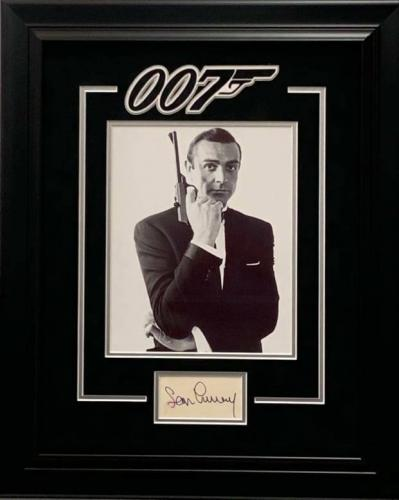 Sean Connery James Bond Sexy Singed Autograph 18x22 Framed Photo Display JSA