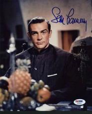 Sean Connery James Bond Signed 8x10 Photo Auto Graded Perfect 10! Psa #x03555