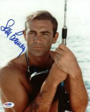 Sean Connery James Bond Signed 8x10 Photo Autographed Psa/dna #x03559