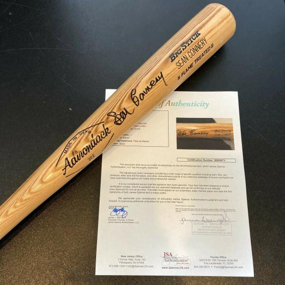 Sean Connery James Bond Signed Autographed Personal Rawlings Baseball Bat JSA